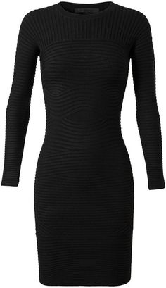 Stretch Wool Ribbed Dress - Lyst