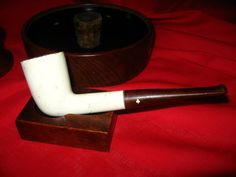 Vintage Estate Kaywoodie white Briar Smoke Pipe by OsanyinPipes, $12.00