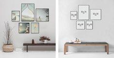 Billedvæg Inspiration | Sådan laver du en billedvæg! - ViSSEVASSE Pink Gray Bedroom, Photo Wall Decor, Creative Decor, Poster Wall, Wall Design, Gallery Wall, Living Room, Apartment Ideas, Stove