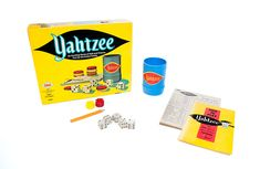 Yahtzee from the E.S. Lowe Company: Yahtzee turns 60 in 2016 . Released in 1956 by the E.S. Lowe company, the 'shake and score' dice game of luck and probability has a quirky story of origin. Historical accounts give credit for the game's invention to an anonymous (and wealthy) Canadian couple who created it as a form of entertainment while at sea on their yacht.  Read more on toytales.ca  #yahtzee