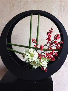 Christmas ikebana