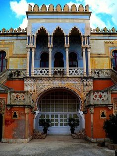 "I would love to have a house like this. <3 So colorful and beautiful. (Arabian ""villa"" in Santa Cesarea Terme, Salento, the heel of Italian boot)"