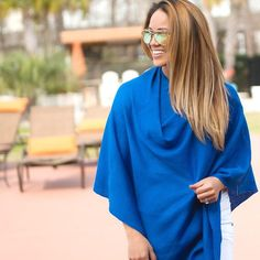 2ee1ba0759f Chelsea Poncho. Perfect for travel! #prepobsessed Ladies Poncho, Royal Blue  Color,
