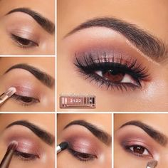 "Maryam Maquillage: using the Urban Decay NAKED 3 Palette - Make up Tutorial - ""Rosy Smokey"" - classic smokey eye which looks great for all occasions. All Things Beauty, Beauty Make Up, My Beauty, Beauty Hacks, Beauty Tips, Urban Beauty, Beauty Products, Beauty Ideas, Mac Products"