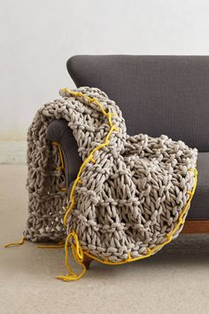 Ochre Roving Throw -