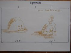 "Story Title: ""SuperMouse"". Very Rough Idea Sketches for a story told over 24 pages. Pages 10-11  #mouse #adventuring #derwent #derwentcoloursoft #pencils #pencil #colouredpencil #colouredpencils #coloursoft #picturebook #storybook #story #narratives #serial #serialbook #childrensillustrations #illustration #storytelling  #whimsyillos #stories4kids #hedgehog #mole #chicken #superheroes"