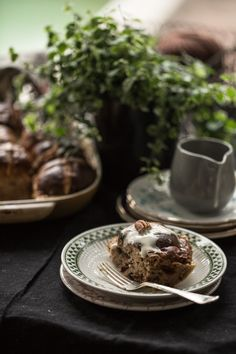 Hot Cross Bun And Nutmeg Tray Bake / Bread and Butter Pudding (recipe) | Sneh Roy / Cook Republic