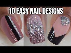 Easy Gel Nail Designs Awesome 10 Easy Nail Ideas Nail Art Pilation – Easy Gel N… Tape Nail Art, Gel Nail Art, Nail Art Diy, Diy Nails, Glitter Nails, Glitter Dust, Nail Polish, New Nail Art Design, Nail Design Video