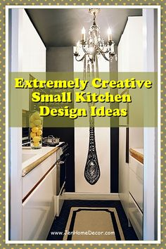 While a small kitchen means less room for décor, that doesn't mean it. If you're looking for more ideas on kitchen decor, follow our simple tips. #decoratingkitchen