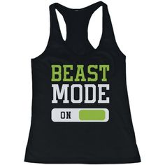Beast Mode Women's Workout Tanktop Work Out Tank Top Fitness Clothing... ($15) ❤ liked on Polyvore featuring activewear, activewear tops and workout shirts