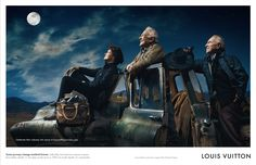 2009 Louis Vuitton ad shot by Annie Leibovitz, featuring astronauts Buzz Aldrin, Sally Ride, and Jim Lovell