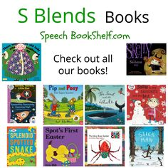 s blends book list.  Picture books listed for preschoolers with sp, st, sn targets.