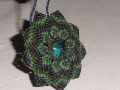 Broche  Collar Macrame. Handmade Brooch  Necklace. por GipsyCrafts