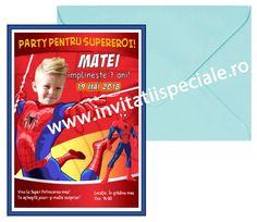 Invitatie Aniversare - Spiderman cu foto - la doar 5 Lei