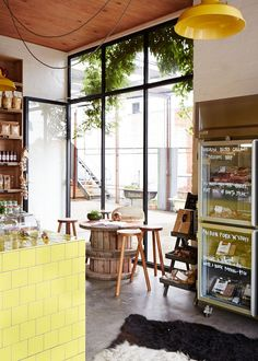 'Hams and Bacon' by Pope Joan, a produce store in Melbourne.  Pic by Sean Fennessy for thedesignfiles.net