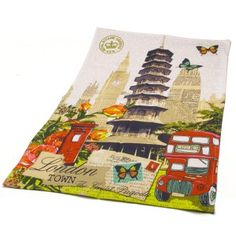 London Pagoda Tea Towel