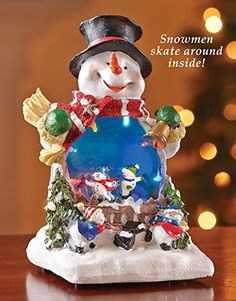 Led Christmas Skating Snowman Tabletop Decor ** You can get more details by clicking on the image.