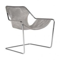 Paulistano Stainless Steel Frame with Mesh Seat -- Designed in 1957 by Paulo Mendes da Rocha, the striking Paulistano chair was part of the living rooms of the athletic club of Sao Paulo and was introduced into the MoMA collection in 2007.  The constructivist concept of the structure , made up from a single bent steel bar, and a pure stainless steel mesh cover, make this chair a lightweight, durable and immensely comfortable design.  The piece has been reintroduced by Objekto, the licensed…