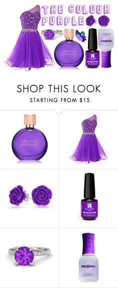 """The Colour Purple"" by sare-bear-xxx on Polyvore featuring Estée Lauder, Bling Jewelry, Red Carpet Manicure, Gemvara and ORLY"