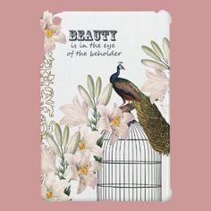 Elegant Lilies Peacock iPad Mini Cover