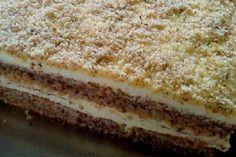 prášek do pečiva 200 mlolej… Albanian Recipes, Croatian Recipes, Baking Recipes, Cookie Recipes, Dessert Recipes, Desserts, Kolaci I Torte, Custard Cake, Torte Cake