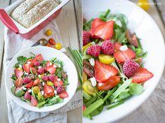 Frühlingssalat und Bärlauch-Chia Brot