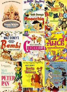 Vintage movie poster compilation...maybe a theme for a more grown up girls' room