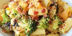 With loads of roasted vegetables, bacon, and cheese, this pasta strikes the perfect balance of healthy and delicious.