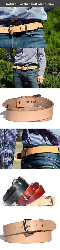 Natural Leather Belt Mens Full Grain Handmade. ★ Hand made riveted construction using a nickel plated steel belt buckle. 3.5mm to 4mm thickness. USA full grain leather belt. 2-day USPS shipping. Belts are riveted, trimmed and coated with a protective finish. This product is made in the USA by 200 Main Leather and made from 1.5 inch wide Herman Oak Leather from St. Louis, Missouri. USA Hand made Leather Belt. ★ 200 Main Leather started after the realization that too many of us buy belts…
