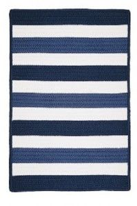 "republic aqua striped boat rugs available in 14"" x 48"", 22"" x 48"