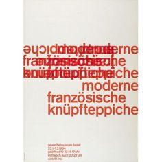 Emil Ruder, Moderne französische Knüpfteppiche-Plakat, 1964
