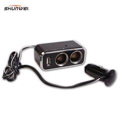 2017 New 1PC 2 Socket Adapter Splitter Dual USB Port Charger DC 12V Car Cigarette Lighter Car Electronic Accessories Wholesale #Affiliate