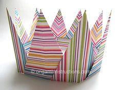 DIY Tutorial DIY Crown / DIY Origami Modular Spiky Crown - Bead&Cord