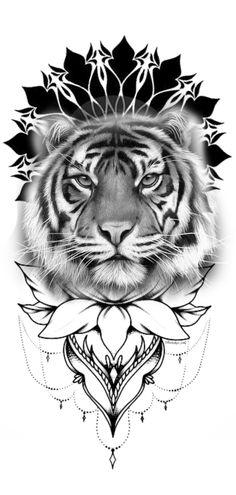 1 Tattoo, Tiger Tattoo, Lion Tattoo Design, Tattoo Designs, Mommy Tattoos, Animal Tattoos, Tattoo Sketches, Tattoo Models, Tattoo Studio