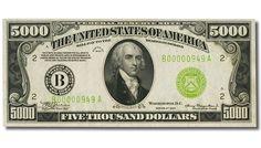 $5000 billete