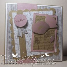 MFT stamps: pretty poppies.  Dienamics: blueprints 1, poppies and leaves.