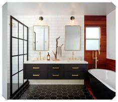 6 Stylish Bathroom Trends Emerging in 2019 Bathroom Red, Large Bathrooms, Chic Bathrooms, Bathroom Wallpaper, Small Bathroom, Luxury Bathrooms, Bathroom Fixtures, Concrete Bathroom, Master Bathrooms