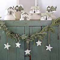 little white christmas houses