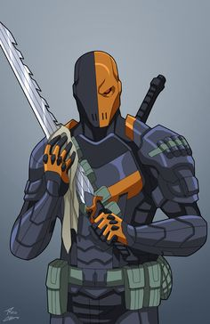 Exterminador commission by phil-cho on DeviantArt Dc Deathstroke, Deathstroke The Terminator, Comic Villains, Dc Comics Characters, Comic Books Art, Comic Art, Super Anime, Univers Dc, Arte Dc Comics