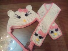 Hallo kity scarf &ice cap