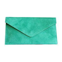 Lucia Italian Turquoise Leather Envelope Clutch Bag - £24.99 Italian Women, Leather Clutch Bags, Envelope Clutch, Lush Green, Italian Leather, Turquoise, Fashion, Leather Bum Bags, Moda