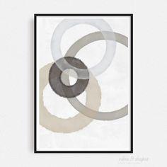 Art Print MAGIC CIRCLES BEIGE 02 Shape Posters, Graphic Design Posters, Magical Home, Cool Shapes, Magic Circle, Modern Art Prints, All Poster, Typography Prints, Unique Art