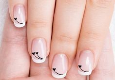 Even if you only have a short nails, you still need to style them. Actually, short nails are easier to maintain. So, if you are interested in nail art, check out these 10 trendy nail art designs for short nails below to beautify your short nails. Nail Designs 2017, Valentine's Day Nail Designs, Cute Nail Art Designs, Nails Design, French Nail Designs, Acrylic Nail Art, Acrylic Nail Designs, Trendy Nail Art, Super Nails