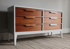 white + wood painted refinished johnson carper fashion trend lowboy dresser/credenza_blue.lamb furnishings