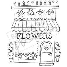 Boutique Buildings: Flower Shop (Digi-Stamp)