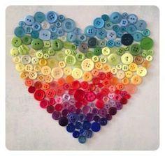 Corazón con botones