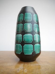 Strehla Fat Lava West/East German Pottery Vase, 1960's