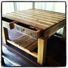 Pallet Table with Benjamin Moore Hi-gloss finish.