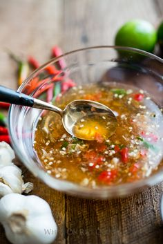 Diane's Vietnamese Fish Sauce Dip Recipe Nuoc Mam Cham . Adjust the flavors to your liking. Everyone has their own version and this is my favorite ratio that isn't too watered down like many restaurant versions.