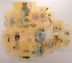 Shahzia Sikander Beyond Surfaces, 1997, ink, gouache and watercolor on tissue paper, 168 x 180 inches.